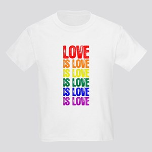 Love is Love is Love Kids Light T-Shirt